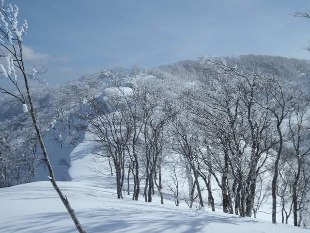 山頂へと続く雪庇.JPG