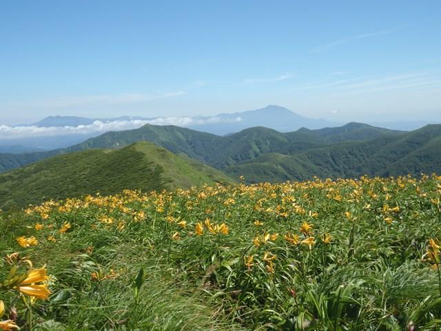 山頂から左八幡平・右岩手山.JPG