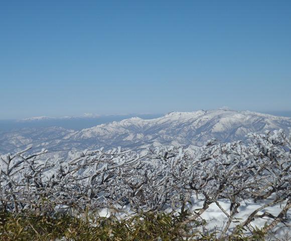 山頂より焼石岳・奥に岩手山.JPG