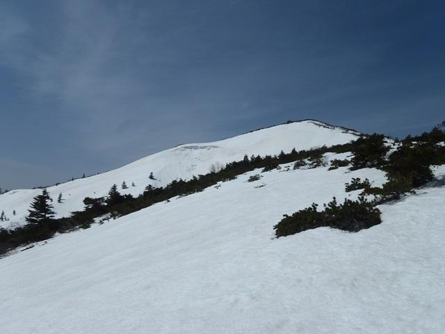 刈田岳・滑る斜面.JPG