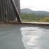 栗駒山荘の露天風呂から秣岳.JPG