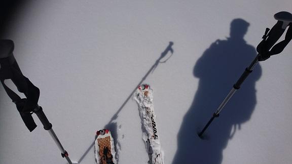 本日の雪質.JPG